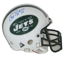 Chad Pennington Autographed New York Jets Authentic Mini Helmet by Riddell