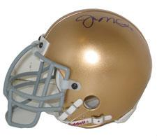 Joe Montana Autographed Notre Dame Authentic Mini Helmet by Riddell Image