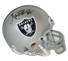 Marcus Allen Autographed Oakland Raiders Authentic Mini Helmet by Riddell