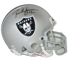 Rich Gannon Autographed Oakland Raiders Authentic Mini Helmets by Riddell Image