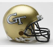 Georgia Tech Yellow Jackets Current Replica Mini Helmet by Riddell - Login for SALE Price Image
