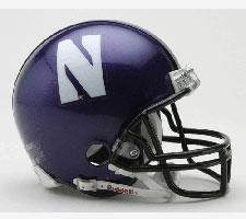 Northwestern Wildcats Current Replica SPEED Mini Helmet by Riddell - Login for SALE Price Image