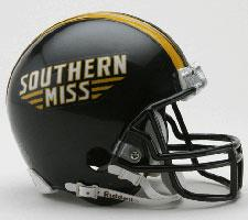 Southern Mississippi Golden Eagles Current Replica Mini Helmet by Riddell - Login for SALE Price Image
