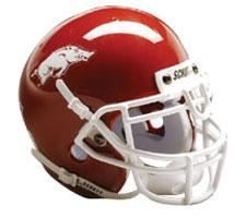 Arkansas Razorbacks 2001-Present Mini Helmet by Schutt Image