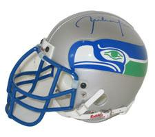 Rick Mirer Autographed Seattle Seahawks Throwback Authentic Mini Helmet by Riddell Image