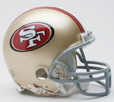 San Francisco 49ers 2009-Present Replica Mini Helmet by Riddell