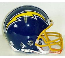 San Diego Chargers 1974-87 Throwback Replica Mini Helmet by Riddell.