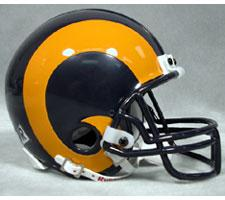 St Louis Rams 1981-99 Throwback Replica Mini Helmet by Riddell