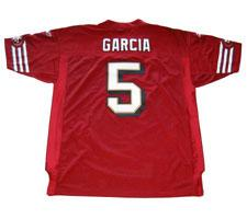 Jeff Garcia Authentic San Francisco 49ers Jersey by Reebok, Burgundy, size 52