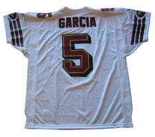 Jeff Garcia Authentic San Francisco 49ers Jersey by Reebok, White, size 50
