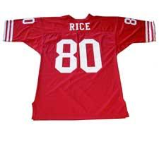Jerry Rice Authentic Jersey San Francisco 49ers Red