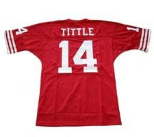 YA Tittle Authentic San Francisco 49ers Old Style Jersey