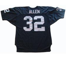 Marcus Allen Autographed Authentic Oakland Raiders Old Style Black Jersey Image