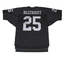Fred Biletnikoff Autographed Authentic Oakland Raiders Old Style Black Jersey si