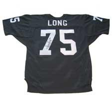 Howie Long Autographed Jersey Authentic Oakland Raiders Old Style Black