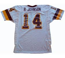 Brad Johnson Autographed Authentic Redskins White Jersey by Ripon Image