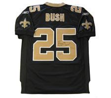 Reggie Bush Autographed New Orleans Saints Gold Authentic Jersey by Reebok Image