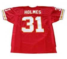 Priest Holmes Authentic Kansas City Chiefs Jersey by Reebok, Red, size 48