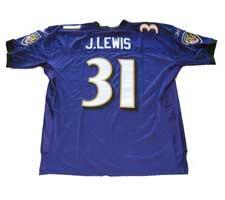 Jamal Lewis Authentic Baltimore Ravens Jersey by Reebok, Purple, size 50