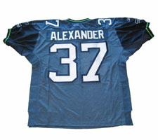 Shaun Alexander Authentic Seahawks Jersey by Reebok Blue size 48, #37