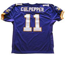 Daunte Culpepper Authentic Minnesota Vikings Jersey by Reebok, Purple, size 50