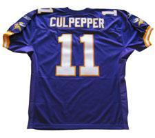 Daunte Culpepper Authentic Minnesota Vikings Jersey by Reebok, Purple, size 50