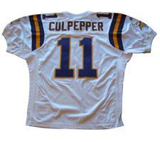 Daunte Culpepper Authentic Minnesota Vikings Jersey by Reebok, White, size 50.