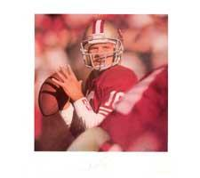 "Joe Montana San Francisco 49ers ""Canton Ohio"" Lithograph by Daniel M. Smith"