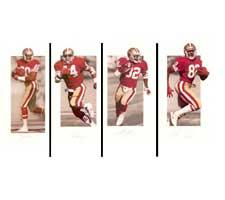Jerry Rice, John Taylor, Ricky Watters and Tom Rathman Autographed San Francisco