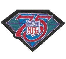 Football 75th Anniversary Patch
