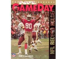 Jerry Rice Game Day Record Holder Magazine
