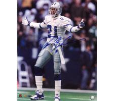Deion Sanders Autographed Photo Dallas Cowboys 16x20 #1016
