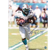 Ricky Williams Miami Dolphins Autographed Photo 16x20 #1108 Run Right White Image