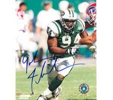 John Abraham Autographed Photo New York Jets 8x10