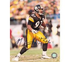 Kendrell Bell Pittsburgh Steelers 8x10 #76 Autographed Photo Image