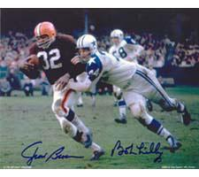 Jim Brown & Bob Lilly Cleveland Browns & Dallas Cowboys 8x10 #133 Autographed Ph