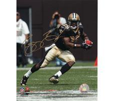 Reggie Bush New Orleans Saints Autographed Photo 16x20 #1120 Cutting Left, signed in Gold Image