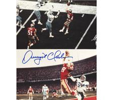 Dwight Clark Autographed Photo of The Catch 49ers 8x10