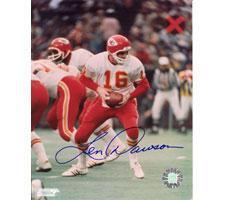 Len Dawson Kansas City Chiefs 8x10 Autographed Photo #199 Handoff