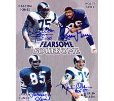 Fearsome Foursome Autographed Photo Rams 8x10 #244