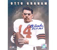 Otto Graham Cleveland Browns 8x10 #156 Autographed Photo