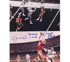 Dwight Clark The Catch with Joe Montana Autographed Photo 8x10