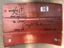 Dwight Clark Autographed Seatback Red Signed in Black