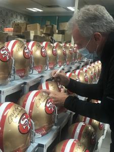 Joe Montana Autographed Helmets