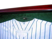 Custom hanger for jersey display case