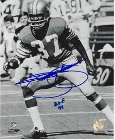 """Jimmie Johnson Autographed 8x10 Photo San Francisco 49ers #306 signed with """"HOF"""
