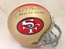 Joe Montana Autographed San Francisco 49ers Throwback Pro Line Helmet by Riddell