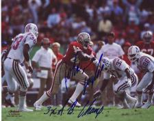 "49ers John Taylor Autographed 8x10 #320 with ""3xSB Champ"""