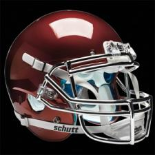Maroon Chrome Helmet