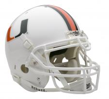 Miami Hurricanes Full Size Authentic Helmet by Schutt